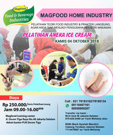 e-flyer pelatihan ice cream