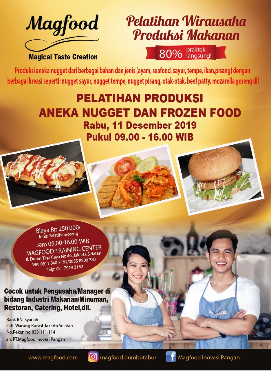 Ikuti Pelatihan Wirausaha Magfood Produksi Aneka Nugget Dan Frozen